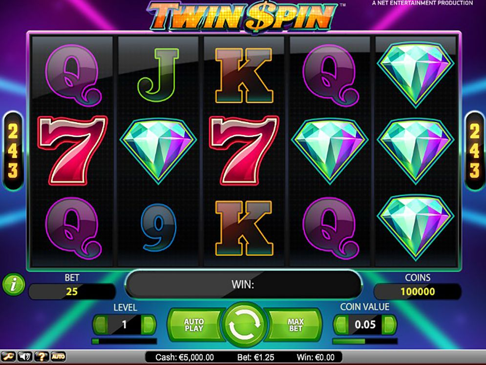 Twin Spin slot bonus pokie