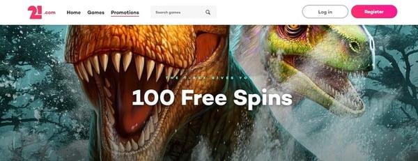 100 Free Spins No Deposit