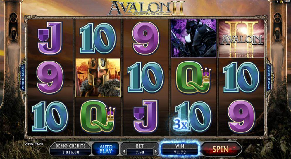 Avalon II slot pokie bonus