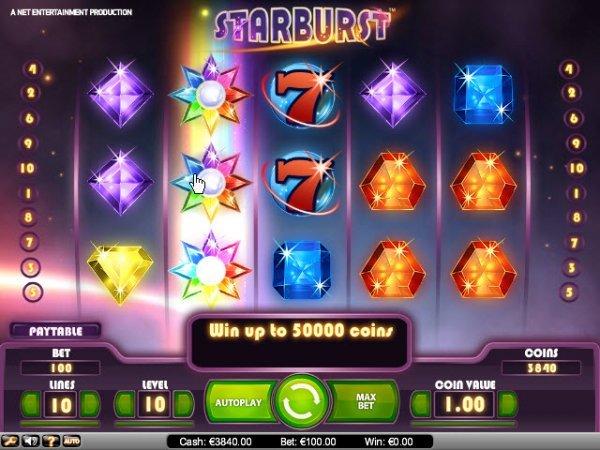 Starburst slot bonus