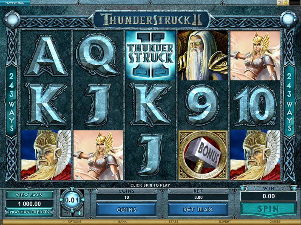 Thunderstruck 2 slot bonus screenshot