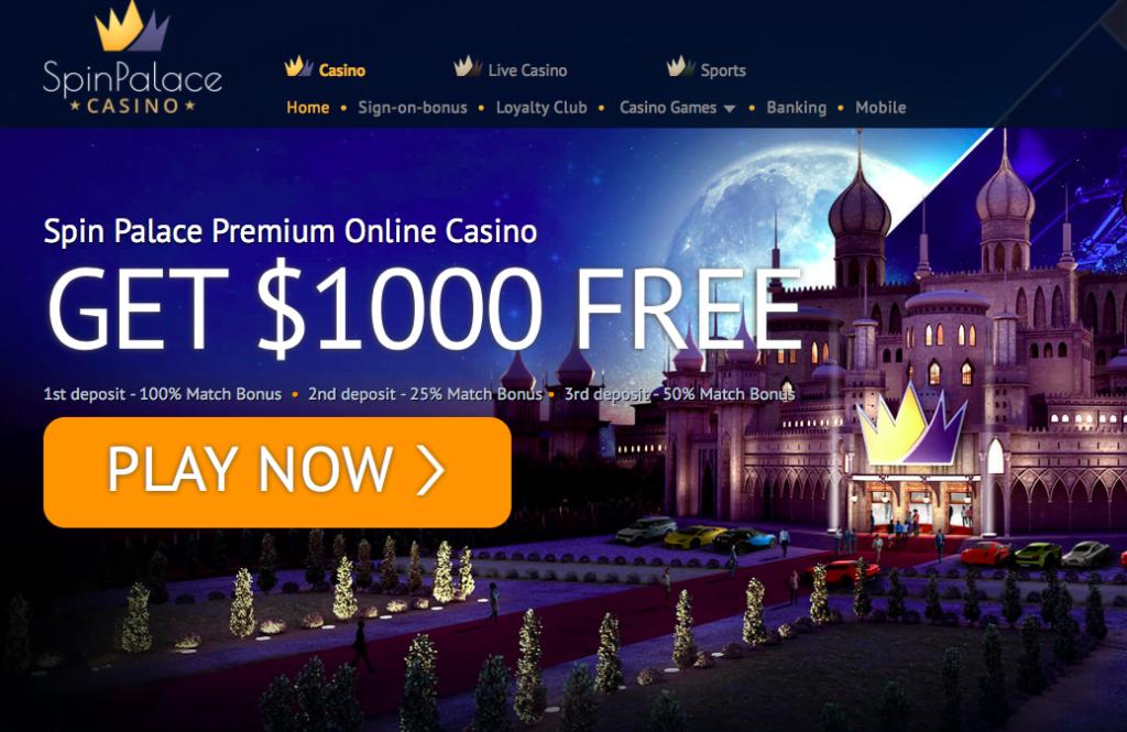 Spin Palace Casino Bonuses 2019