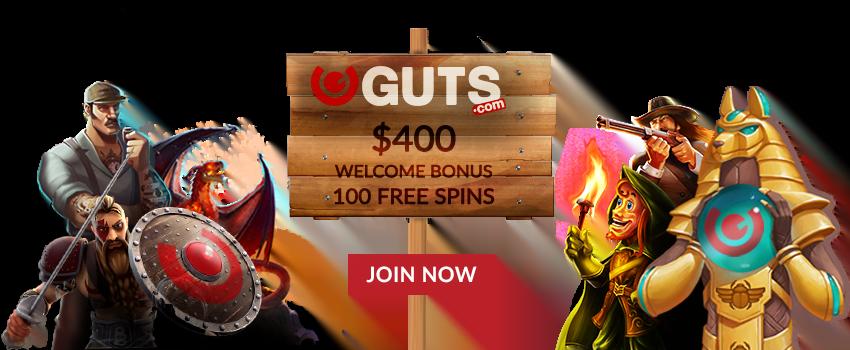 Guts Casino NZ Welcome Bonus