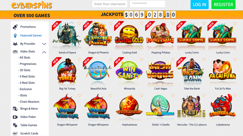 Cyberspins Casino Free Spins