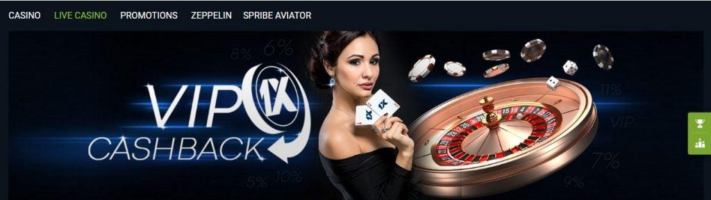 1XBET Casino vip club