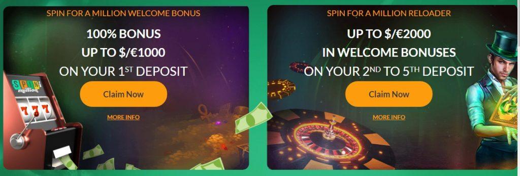 spin millions bonus