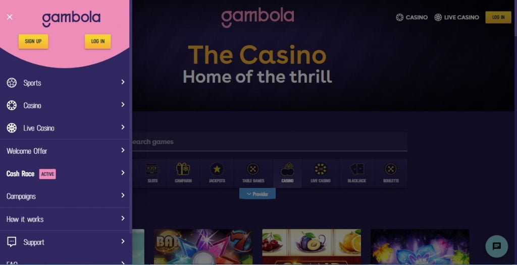 gambola casino layout