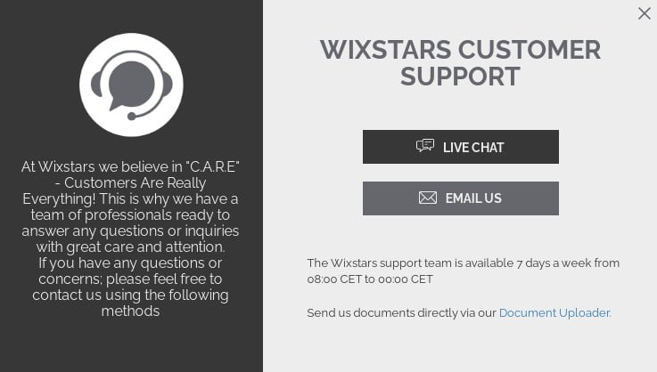 wixstars support