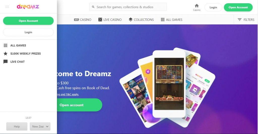 Dreamz casino layout