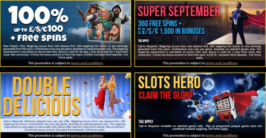 bonus and promotions