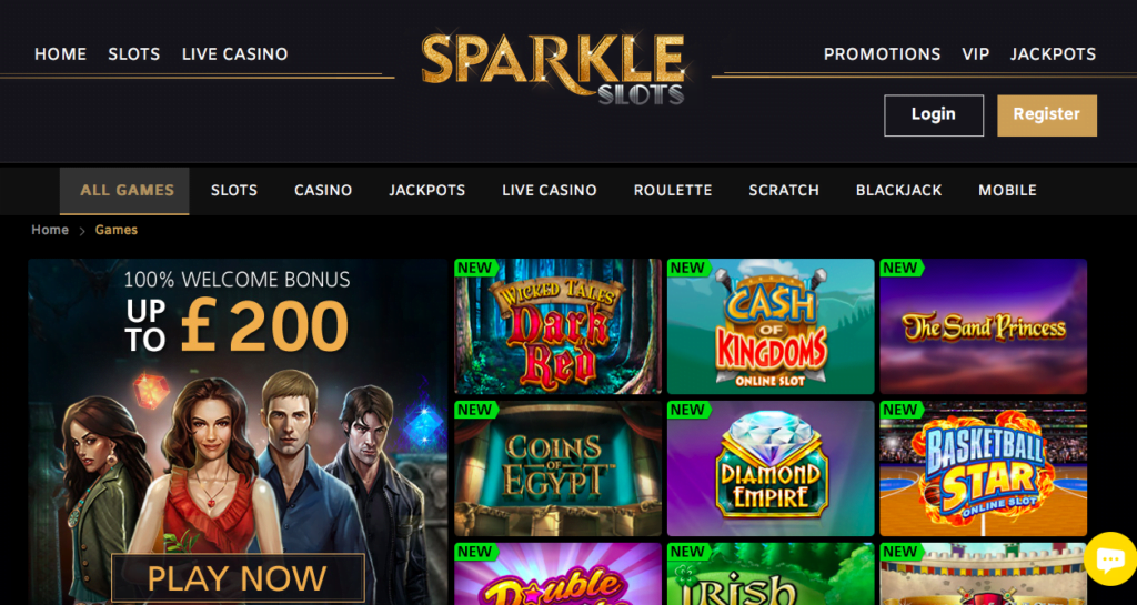 Sparkle Slots Casino Bonus NZ