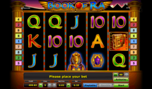 screenshot from the slot game book of ra