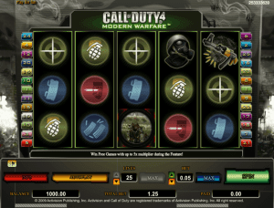 call of duty slot game