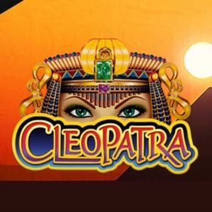 the game logo for the slot game cleaopatra